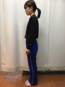 姿勢の変化